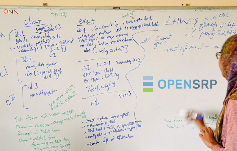 OpenSRP whiteboard notes