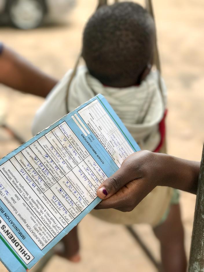 paper based immunization data